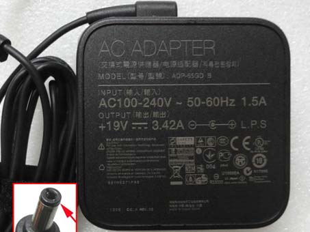 Batterie pour 100-240V  50-60Hz (for worldwide use)  19V  3.42A, 