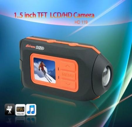 HD 1080p Helmet Sport Mini DVR Camera Monitor,Wide 120º