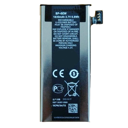 BP-6EW BP6EW Battery Replacement   For Nokia LUMIA 900 Series