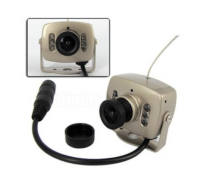 WIRELESS HIDDEN MINI COLOR CCTV SECURITY CAMERA 6 LED IR NIGHT DAY VISION SPYCAM