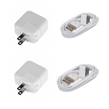 10W USB Wall Charger Adapter+2M Cable   For iPad 1/2 iPhone 4/3GS/3G