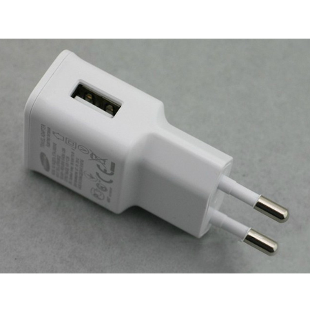 EU Plug 2A   Wall Charger Adapter USB for Galaxy Note 2 II N7100 White