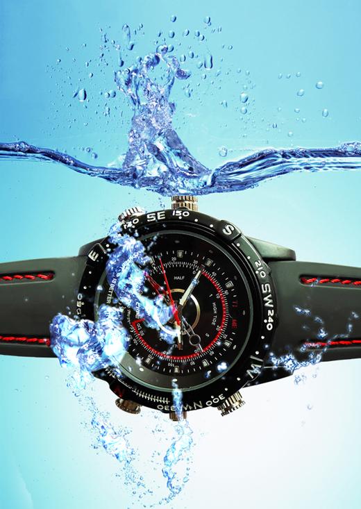 8GB 8M Pixels HD Waterproof Spy Camera Watch Mini DVR
