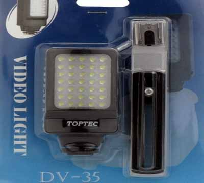 DV-35 LED Camera Video Light For Canon LEGRIA HF FS XF EOS 60D 7D 5D SONY DCR HDR