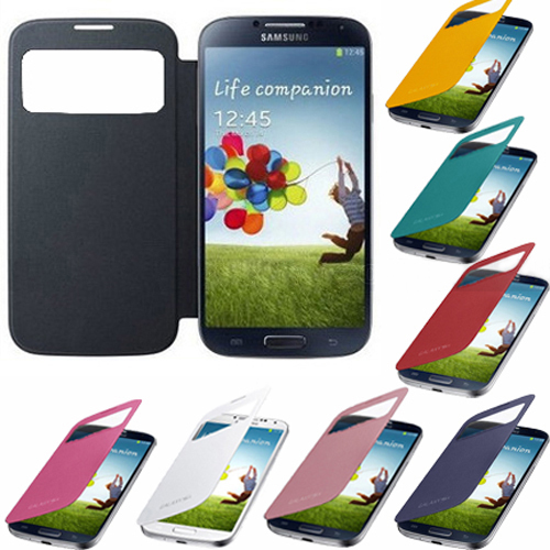 Stylish Smart PU Leather Flip Battery Case Cover For Galaxy S4 SIV i9500