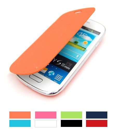1� 8 Colors Battery Cover Door Flip Case For Galaxy S3 SIII Mini i8190