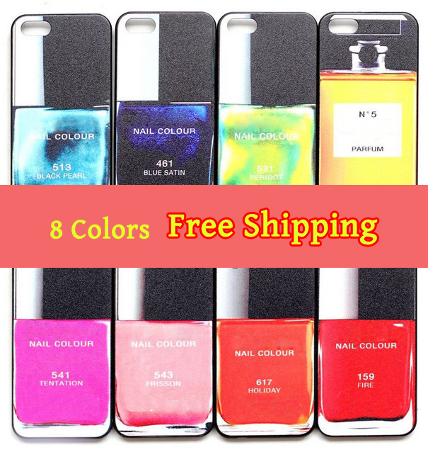Fashion Nail Polish Pattern Back Shell Cover Case Skin for iPhone 4 4S 4G BA1085