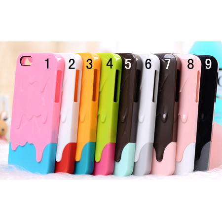 3D Melt Ice-Cream Skin Protect Hard Case Cover For iPhone 4 4S 5 5G 