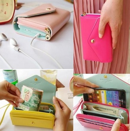 Multi Purpose Envelope Wallet Case   Coin Purse for iPhone 4 4S 5 5G