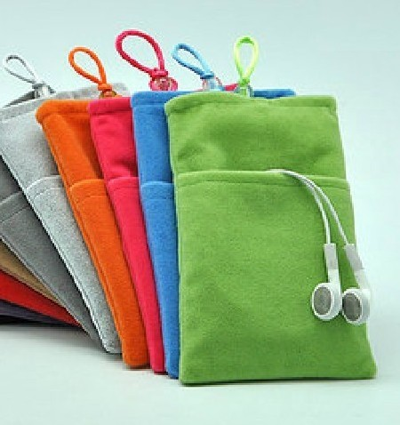 Soft Velvet Flannel Case Skin Cover Bag Pouch for iPhone 4 4S 5 iTouch Galaxy S2