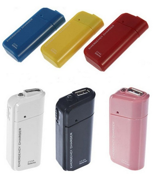 Portable AA External Battery Emergency USB Charger For MP3/4 Player iPod iPhone