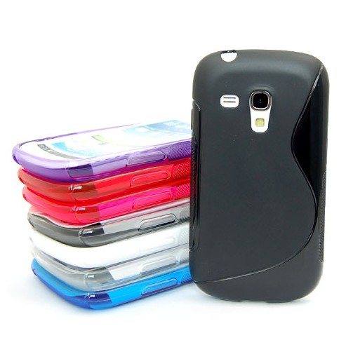 1� 8 Colors S Shaped TPU Gel Case 