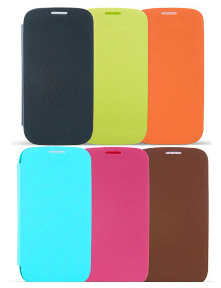PU Leather Flip Case Cover For Galaxy S3 III GT-i9300+Screen Protector