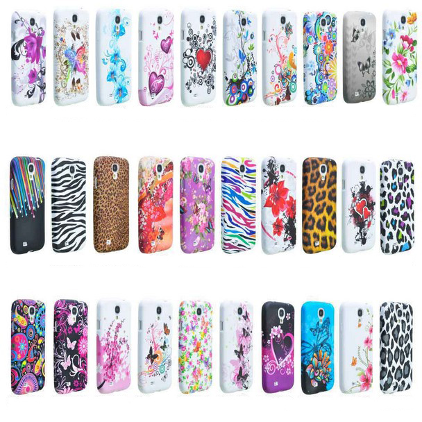 Colorful Flower Soft TPU Protector Case Cover Skin for Galaxy S4 i9500