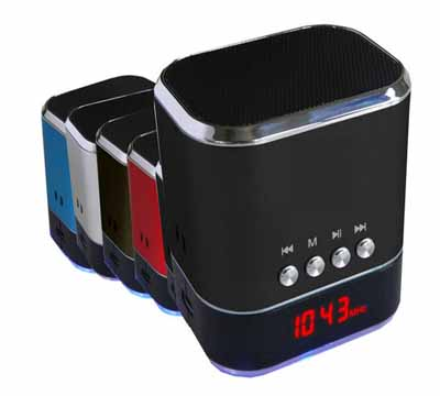 Supersonic SC-1325 Portable Speaker with USB/MICRO-SD/AUX Inputs & FM Radio