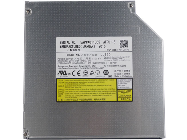 UJ260 For Panasonic 12.7mm SATA Tray Load Blu-ray BD DVD Burner Laptop Drive