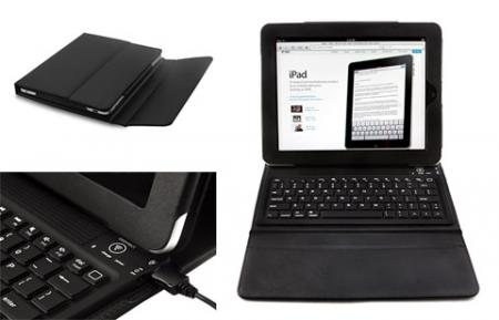 Bluetooth Keyboard and Stand Case for Apple iPad 1