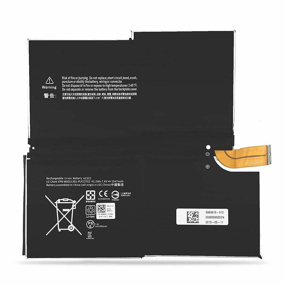 Batterie pour Microsoft Surface Pro 3 MS011301 1631 1577-9700 Tablet 5547mAh/42.2WH