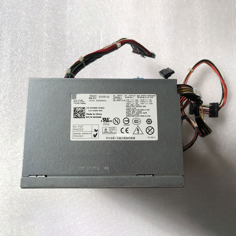Batterie pour 100-240V ~4.7A 47-63 Hz (for worldwide use) +5V +3.3V H305P-02