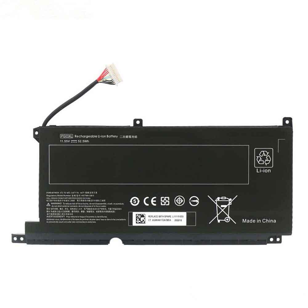 Batterie pour HP 15-ap012dx HSTNN-LB7C 831532-421 3ICP4/78/122 TPN-Q168 5430mAh/65WH