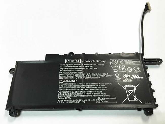 Batterie pour HP PAVILION 11 X360 SERIES 11-n010dx 29WH